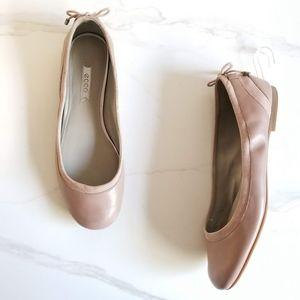 ECCO Goya Ballerina Flats Woodrose Leather Slip on
